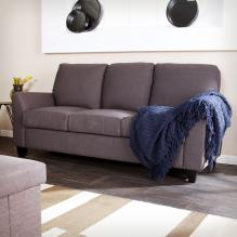 Holly & Martin Plushen Sofa - Anthracite