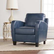 Bolivar Faux Leather Lounge Chair - Royal Blue