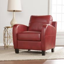 Bolivar Faux Leather Lounge Chair - Red