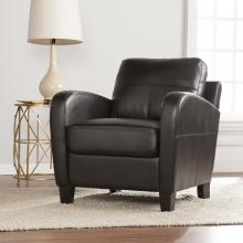 Bolivar Faux Leather Lounge Chair - Black