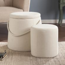 Bickmore Nesting Ottomans - 2Pc Set