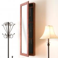 Wall Mount Jewelry Mirror - Cherry