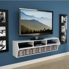 White Altus Plus 58 Floating TV Stand