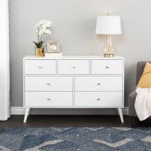Milo 7-drawer Dresser, White