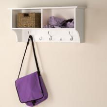 White 36-inch Wide Hanging Entryway Shelf