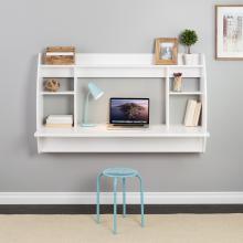 Wide Floating Desk, White