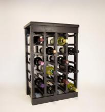 Classic Wood 24 Bottle Espresso Wine Rack