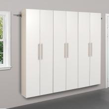 White HangUps 72 inch Storage Cabinet Set C - 3pc