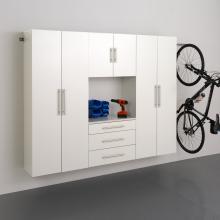 White HangUps 90 inch Storage Cabinet Set G - 4pc