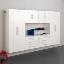 White HangUps 120 inch Storage Cabinet Set I - 6pc
