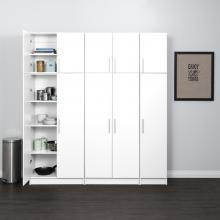 White Elite 80 inch Storage Set C - 6 pc