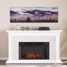 Snow Covered Fall Mountains in Colorado Glass Wall Art