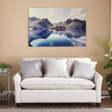 The Silent Reflection Glass Wall Art