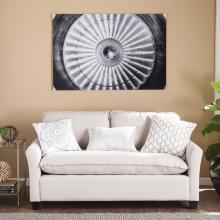 Jet Engine Glass Wall Art