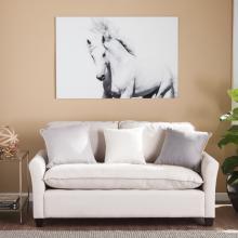 White Horse II Glass Wall Art