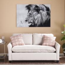 The Lion Glass Wall Art