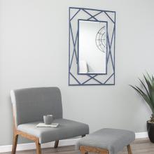 Belews Geometric Wall Mirror - Navy