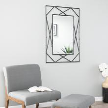 Belews Geometric Wall Mirror - Black
