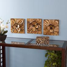 Magnolia Wall Panel 3pc Set - Gold