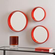 Holly & Martin Daws Wall Mirror 3Pc Set - Red-Orange