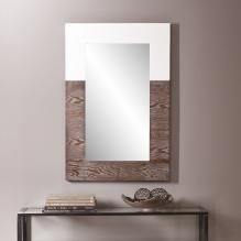 WAGARS MIRROR - BURNT OAK/WHITE