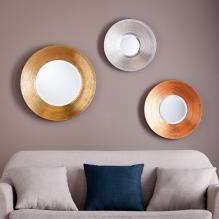Dryden Metallic Wall Mirror 3Pc Set