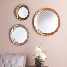 Lucerne Round Wall Mirror 3Pc Set