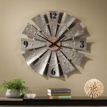 Brevan Oversized Decorative Windmill Wall Clock