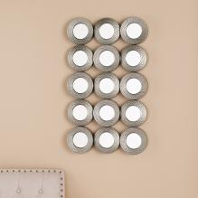 Sphere Grid Wall Sculpture - Hammered Silver