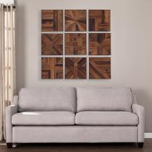 Corava Reclaimed Wood Wall Panels - 9pc Set