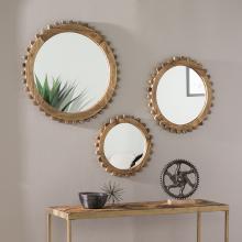 Delwich Round Farmhouse Mirror Set
