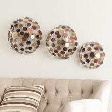 Jessalyn Metal Sphere Wall Sculptures - 3Pc Set