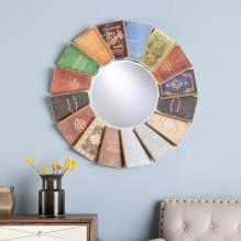 Round Book Mirror