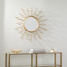 Salix Oversized Gold Starburst Mirror