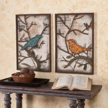 Bird Wall Panel 2Pc Set