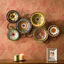 Scattered Italian Plates Wall Art
