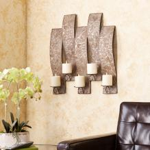Clarissa Antiqued Silver Wall Mount Candelabra