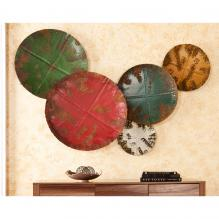 Metal Sphere Wall Sculpture 5pc Set