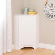 Elite White Corner Storage Cabinet