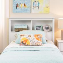 White Twin Bookcase Headboard