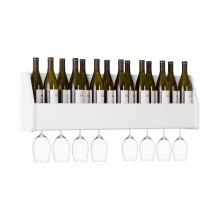 Floating Wine Rack, White