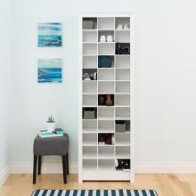 White Space-Saving Shoe Storage Cabinet